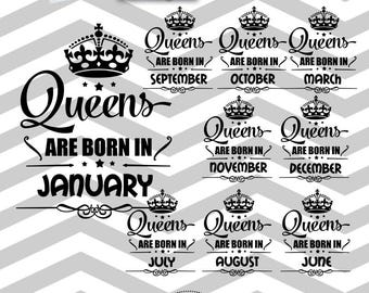 Queens Born  designs Receive  SVG AI PNG Dxf images instantly