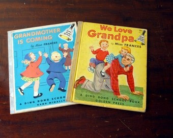 Ding Dong School Book by Miss Frances-Grandmother Is Coming-We Love Grandpa-Dr. Frances R. Horwich-Rand McNally-Golden Press