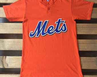 1990s Mets vintage t-shirt, 90s, orange, number, 8, vtg, tee, retro, rare, majestic, new york, ny, baseball, team, mlb, nl, metropolitans