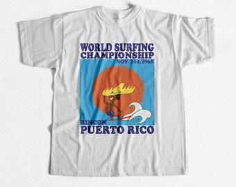 Vintage Surf World Surf Championships Rincon Puerto Rico 1968 T Shirt
