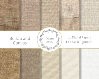 Burlap digital paper -  Burlap clipart - Burlap Clip art, Hessian digital paper, Scrapbook paper, Hessian Digital Paper - Canvas Digital