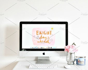 Styled Stock Photo | Bright & Happy Office | Blog stock photo, stock image, stock photography, blog photography