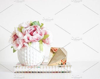 Styled Stock Photo | Pretty Home Decor (Wide) | Blog stock photo, stock image, stock photography, blog photography