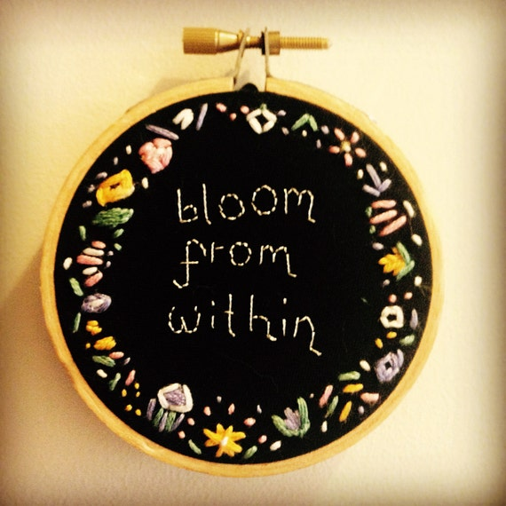 Bloom From Within - Floral Embroidery Hoop