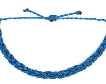 dark blue braided bracelet, friendship bracelet, adjustable bracelet, stacking bracelet, gift for teen girls, surfer bracelet beach bracelet