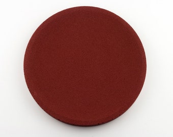 Round top in red concrete / / empty Pocket concrete / / decorative concrete tray / / concrete tray / / cast-iron serving tray