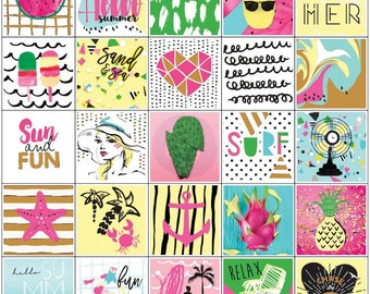 Prima Planner Stickers - 3 sheets 157 pieces - Summer