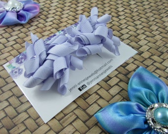 Mini Korker Bows Clips - Set of 2 - Purples