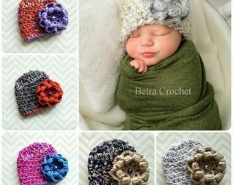 Girl Crochet Hat, Baby Crochet Hat, Toddler Girl Hat, Made By Order, Sizes Newborn - 12 T