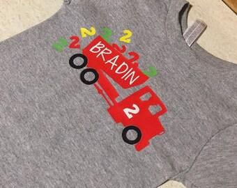 Dump Truck Birthday Shirt