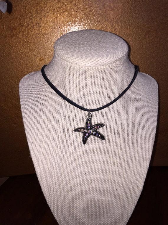 Starfish earrings and choker set