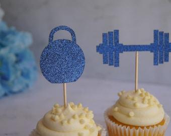 Gym Cupcake Topper