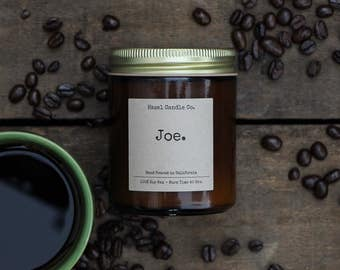 All Natural, Soy Wax, Eco Friendly, Luxury, Coffee Scented Candle // Hand Poured and Handmade in California