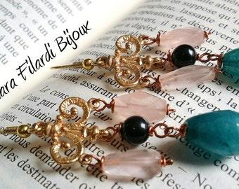 Bronze earrings, handmade in Victorian-style!