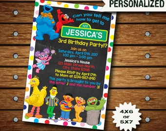 Sesame Street Invitation / Sesame Street Birthday Invitation / Sesame Street Party / Sesame Street Invite / Sesame Street Birthday / Sesame