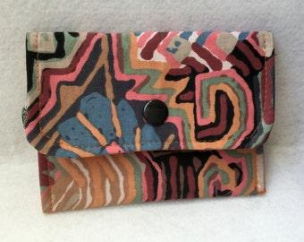 Cotton fabric - Ref. PM14 flap wallet
