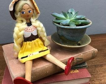 Vintage polish wooden doll
