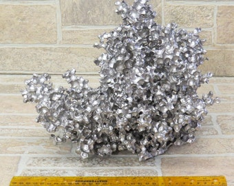 99-Aluminum sculpture similar  to anthill castings, but poured into water polymer beads.