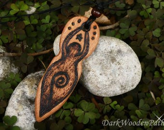 Goddess necklace ~ Gaia ~ wood