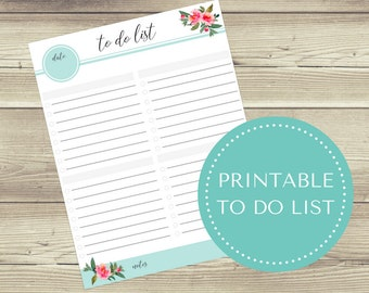 To Do List Printable, Printable To Do List, PDF
