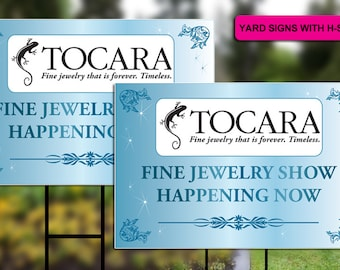 Tocara Yard Signs with H-stakes (Design 2)