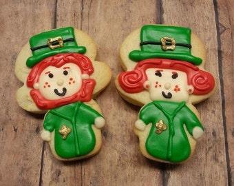 Leprechaun Cookies - St. Patrick's Day Cookies - Cut out Cookies - Sugar Cookies - Cookie Treats - Packaged Cookies - Teacher Treats