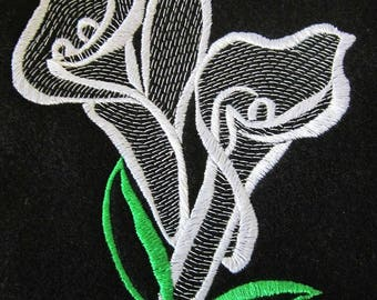 Cala Lily, Silhouette, Flowers