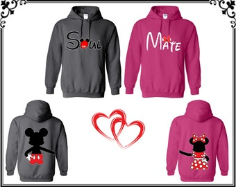 Soul Mate Mickey Minnie Couple Hoodie Sweatshirt Soul Mate Couple Hooded Sweatshirt Soul Mate Mickey Minnie Sweatshirt Gift For Couple