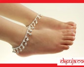 Stunning Bells Anklet Ankle Chain Payal Indian Bollywood Foot Bracelet Kids Girls Payal  Single or Pair