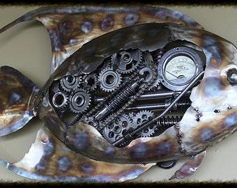 Metal Art Sculptures Angel Fish
