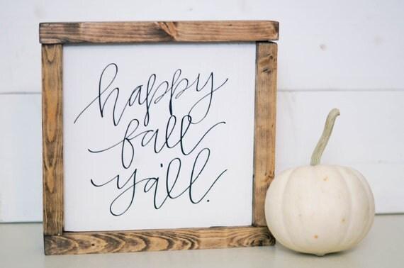 Happy Fall Y'all mini sign