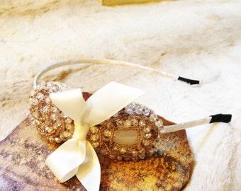 Bridesmaid Headband, Wedding Headband, Rhinestone Headband, Bridal Headpiece, Crystal Accessories, Flower Girl Headband, Holiday Gift