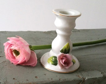 Sweet little rose candlestick