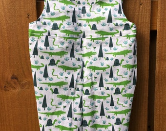 Alligators and Turtles Sunsuit Romper for Toddlers, 12 - 18 months