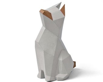 "Papercraft kit ""Struppi"" low poly paper sculpture DIY"
