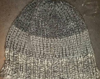 Gray Scale Knit Slouch