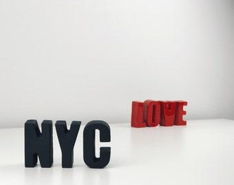 Letters Decor - Plaster Letters - Custom Letters - Concrete Letters - Alphabet Letters Home Decor - Personalized Gift