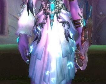 Tyrande Whisperwind World of Warcraft Cosplay Costume Handmade Made for order