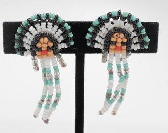 Native american beaded earscrews