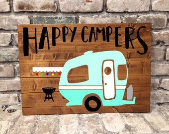 Happy Campers - Rustic Pallet Wood Sign