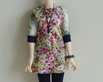 Dark garden tunic for Minifee and other slim minis like Resinsoul or Narae
