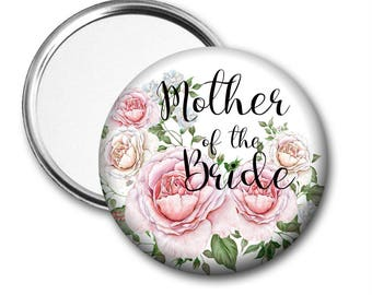 Roses Mother of the Bride 58 mm 2.5 inch Pocket Mirror