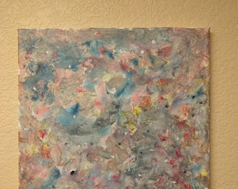 LSD Psychedelic Trip Art Abstract Painting: Cotton Candy