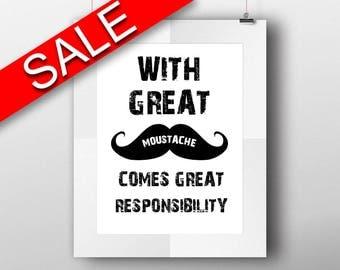 Wall Art Moustache Digital Print Moustache Poster Art Moustache Wall Art Print Moustache Home Art Moustache Home Print Moustache Wall Decor