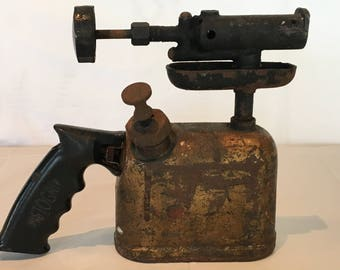 Vintage Brass & Cast Iron Wall Superior Products Blow Torch Pistogrip - FREE SHIPPING!
