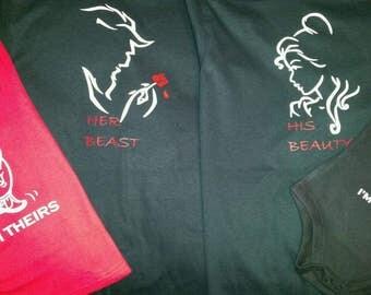 Beauty and beast family shirts