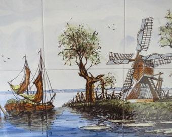 Delft-tile Panel Dutch depiction.