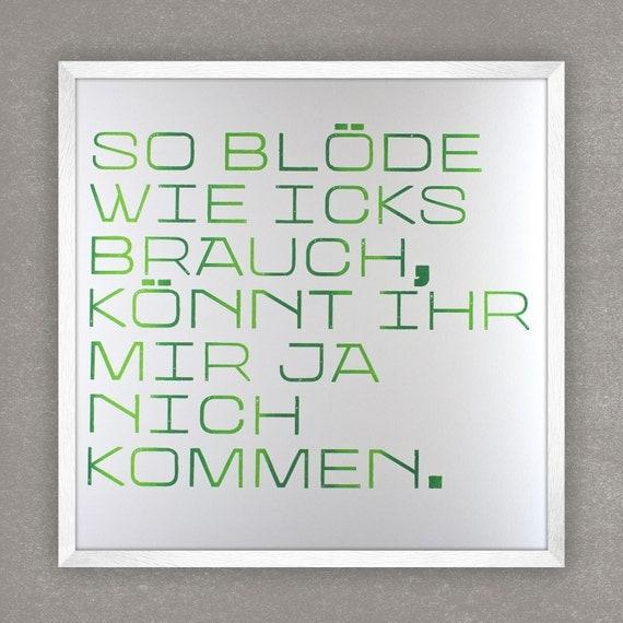 blöde berliner sprüche-poster rahmen art print digital