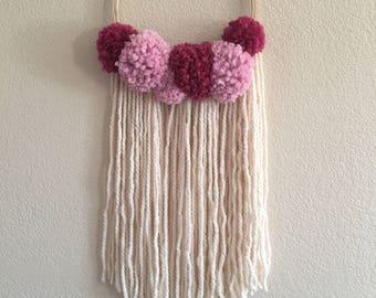 Wall hanging, bow hanger, bow organizer, wall decor, home decor, bows, yarn, decor