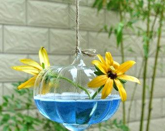 Clear Glass Vase Terrarium Wall Hanging Pumpkin Shaped Creative Bar  Diy Home Craft